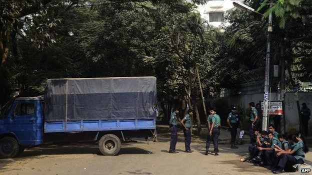 Local reports said there was an increased police presence outside the BNP offices in Dhaka on Sunday