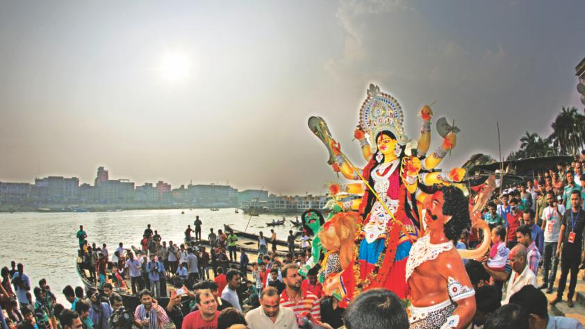 Bangladesh bid farewell to Goddess Durga | The Bangladesh