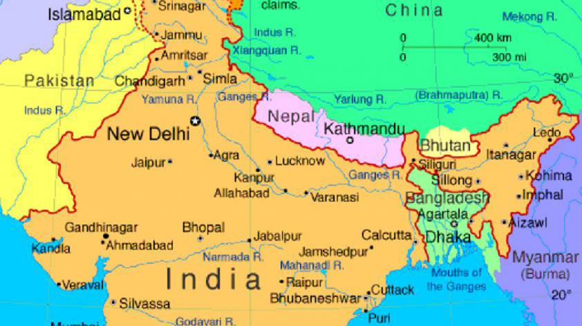Bangladesh On Map Of Asia.South Asia Map 0 The Bangladesh Chronicle