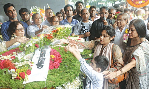 Tributes of love showered on Syed Haq | The Bangladesh Chronicle